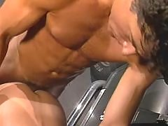 Four athletic studs in oral party daddy gay porn