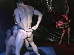 Dude screams of beefy pecker inside daddy gay porn
