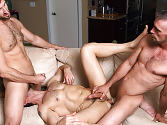Dean Monroe gets the full treatment from Joe & CJ Parker daddy gay porn