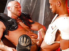 The rebelliousness is given as the twofold Gladiator cops Carioca and Axel battle over who can climb who. Carioca WINS and Axel must endure the fat horse cock of Carioca in the throat and then in his tight ass. It bucks him without mercy, and faster and f daddy gay porn