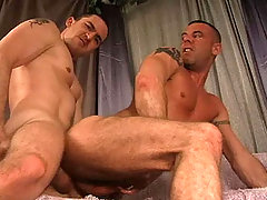 Hot Straight guy enjoying anal action with his gay friend daddy gay porn