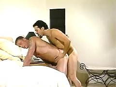 Latino hunk jerks off and eats jizz daddy gay porn