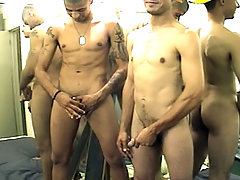 Two handsome dudes suck cocks , jerk off and cum in here daddy gay porn
