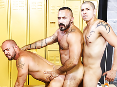 Gym Colleagues daddy gay porn