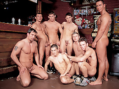 Mega moist hunks in a group orgy fuck fest happens in a wand daddy gay porn