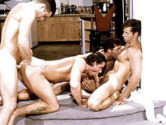 These four randy studs work always other loves a nasty frenzy. daddy gay porn