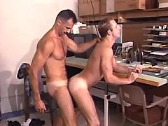 Handsome men do sixty nine on floor daddy gay porn