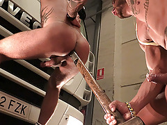 Hitchhiker Martin jumps into a truck hoping to be taken to Madrid, but arrogant trucker has other plans for him. He'll have to suck a lot of cock and become a good sex toy if he wants to be home tonight. daddy gay porn