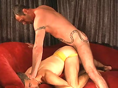 Two studs enjoying some nice blowjob and anal action daddy gay porn