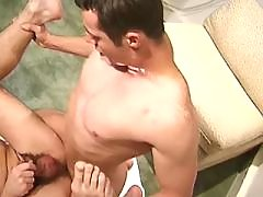 Savage gays have oral fun on island daddy gay porn