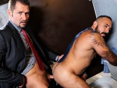 Alessio is waiting patiently at his favorite gloryhole. He comes here about twice a week and usually gets at least one cock but it takes a while and h daddy gay porn